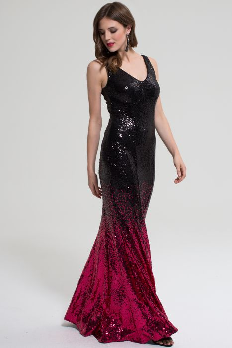 2019 professional entire collection many fashionable V Neck Sequin Maxi Dress