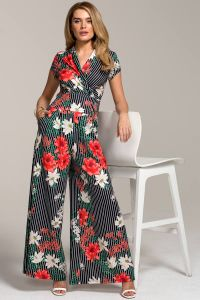 Wideleg Jumpsuit with Cap Sleeve
