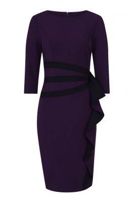 Contrast Side Frill Dress