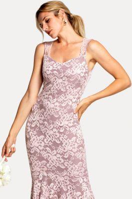 Sweetheart Neckline Lace Maxi Dress