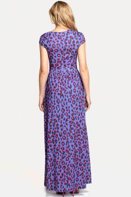 Asymmetric Neckline Jersey Maxi Dress