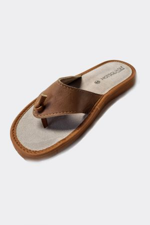 Lightweight Women's Leather flip flop