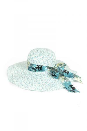 Scarf Detail Women's Sun Hat