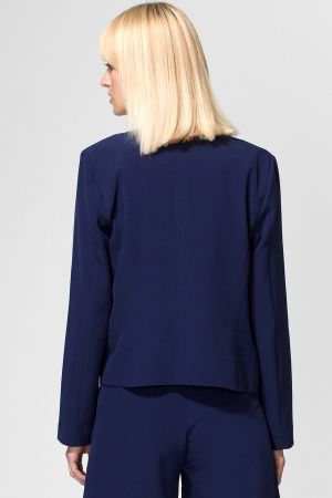 Collarless Edge to Edge Jacket
