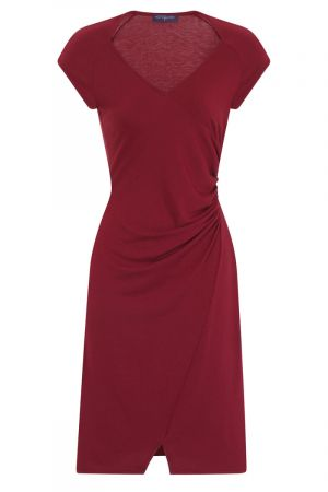 Raglan Sleeve Side Ruched Dress