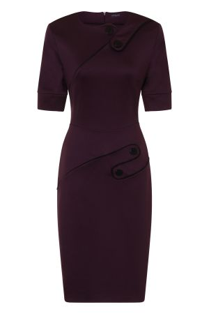 Richmond Button Ponte Dress