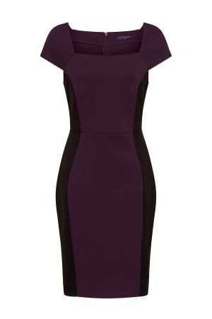 Square Neck Hourglass Ponte Dress