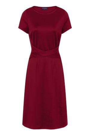 Cross Waist Midi Ponte Dress
