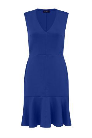 V-Neck Drop Waist Ponte Dress