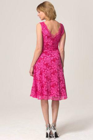 V-Neck Floral Lace Dress