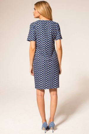 Riviera Short-Sleeved Print Shift Dress