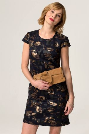Capped Sleeve Floral Shift Dress