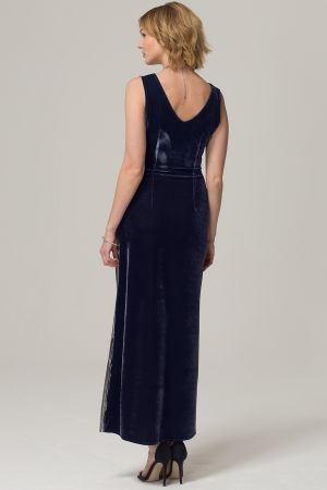 Velvet Pleat Maxi Dress