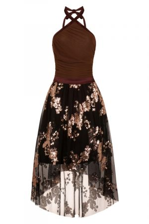Embellished Halterneck Dress