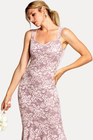 Sweetheart Neckline Lace Maxi Dress