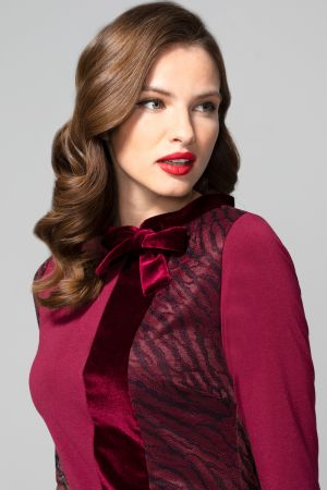 Princess Seam Dress with Velvet