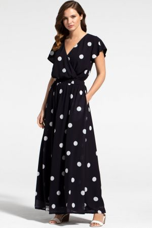 Chiffon Wrap Top Maxi Dress
