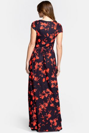 Asymmetric Neckline Maxi Dress