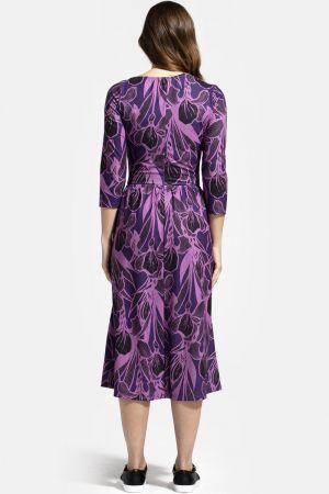Asymmetric Neckline Midi Dress