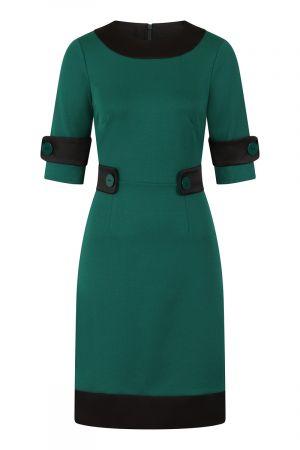60s Dress with Contrast Hem