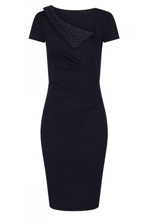 Asymmetric Neckline Day to Night Dress