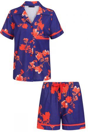 Jersey Shorts Pyjama Set with Buttons