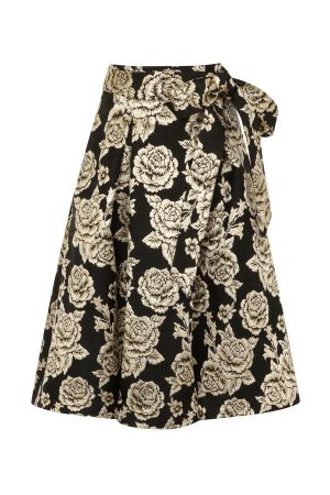 Brocade Midi Skirt