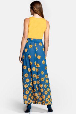 Box Pleat Maxi Skirt