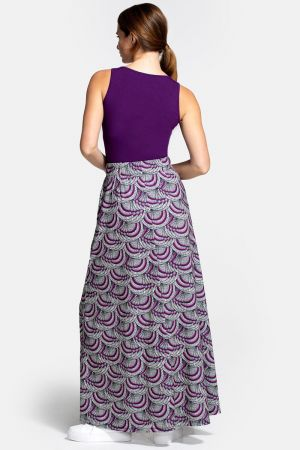 Box Pleat Maxi Skirt