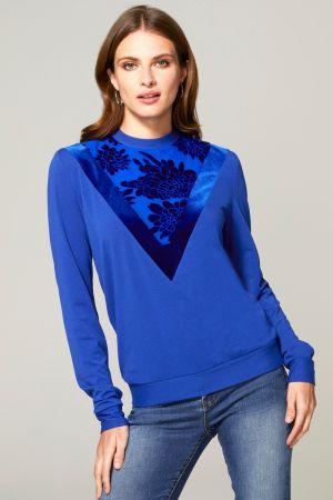 Sweater Top with Velvet