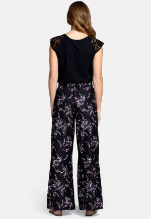 Luxe-Lounge Wideleg Crepe Trouser